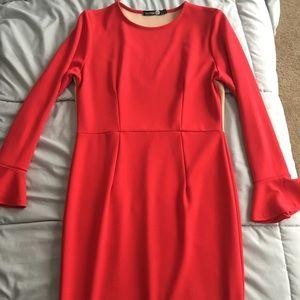 Boohoo formal midi dress